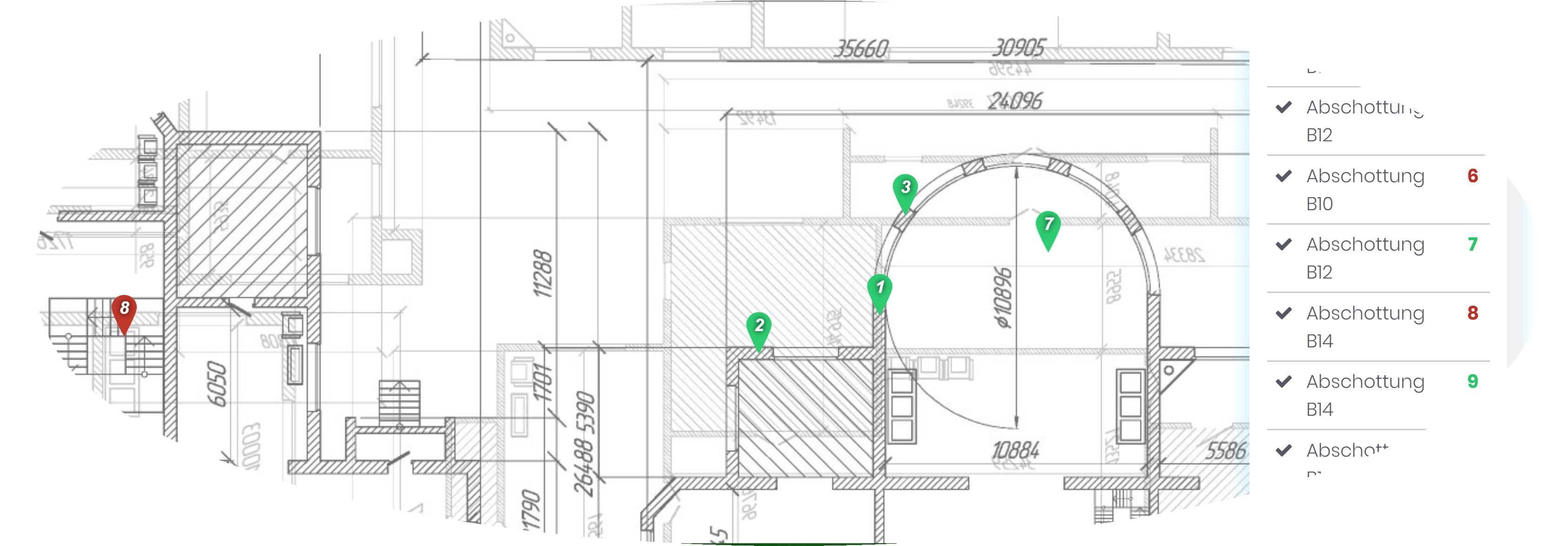 Bauplanmarkierungen in DokuPit