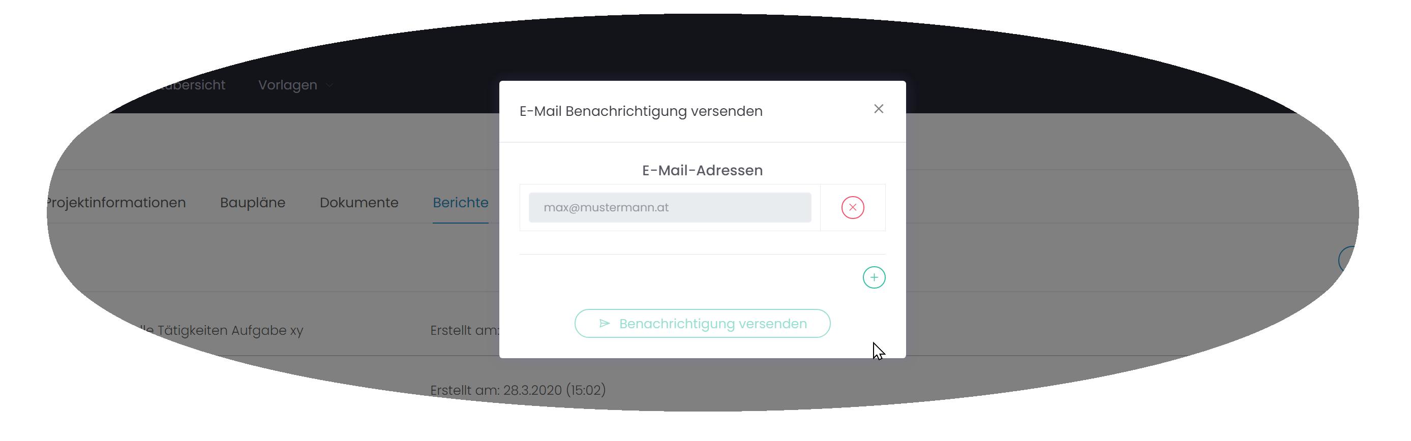 DokuPit Bericht als E-Mail senden