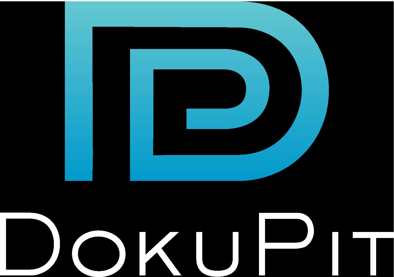DokuPit Logo mit weißer Schrift