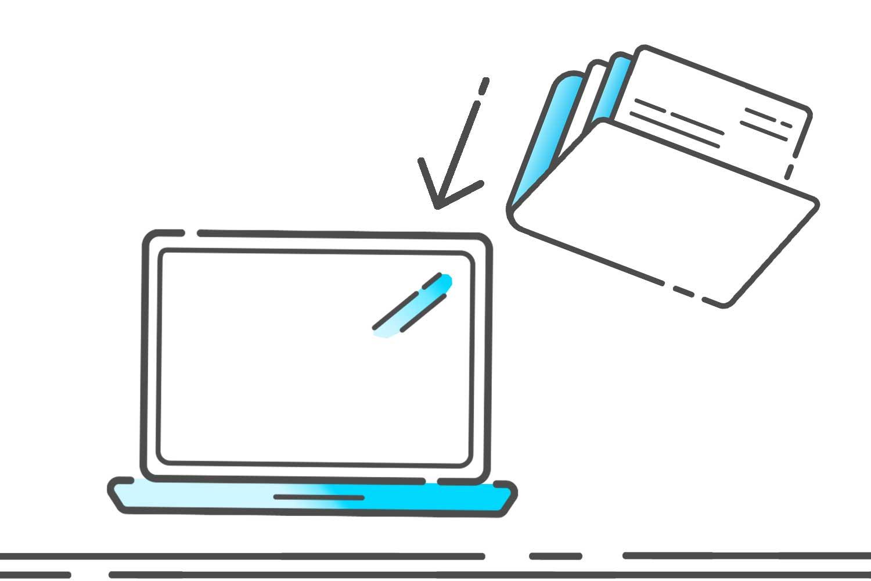 Symbol Daten hochladen