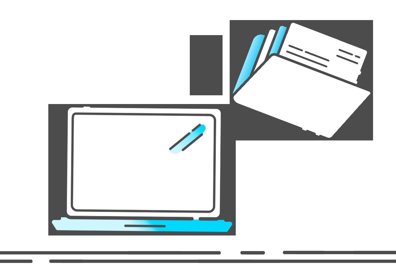 Symbol Daten in Computer einspeisen