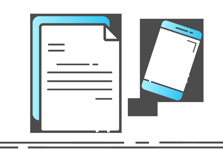 Symbol digitalen Bericht erstellen