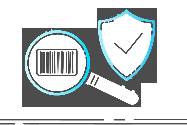 Symbol Identifizierungscode transparent