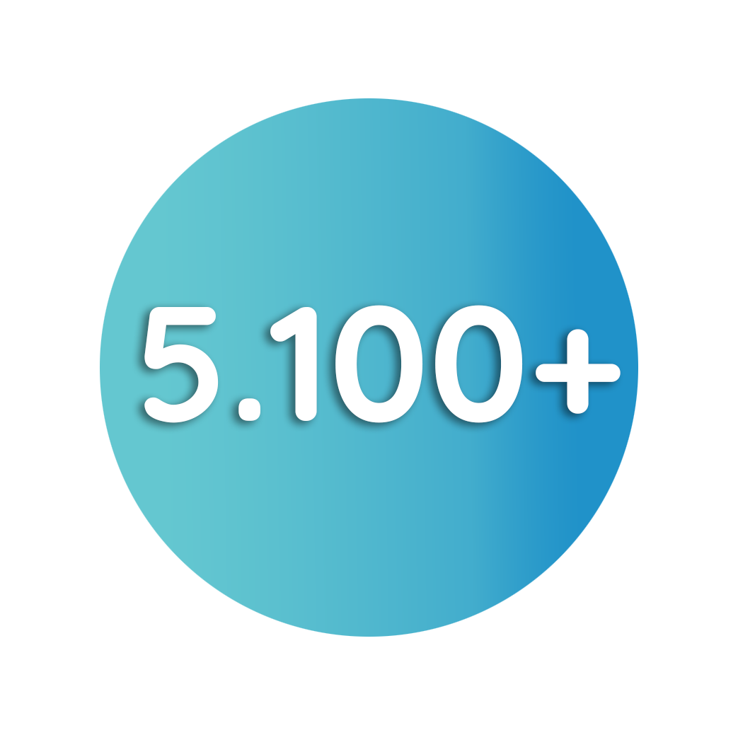 5100 erstellte Projekte