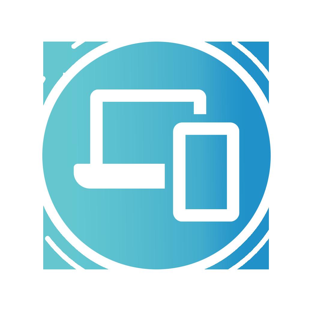 Symbol Laptop und Smartphone