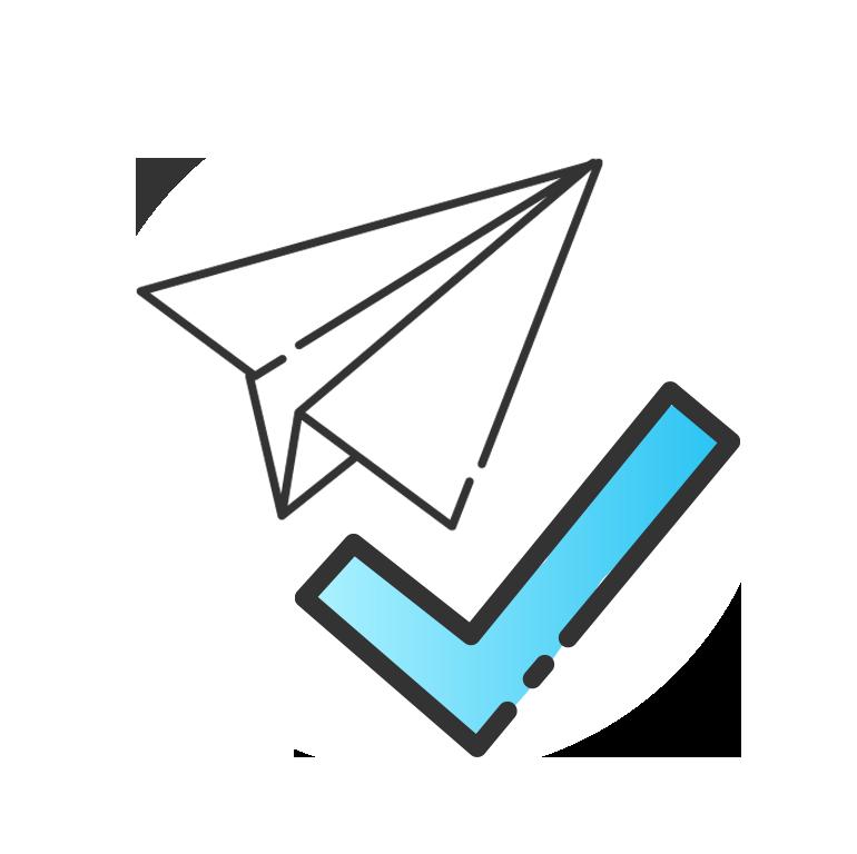 Symbol Papierflieger
