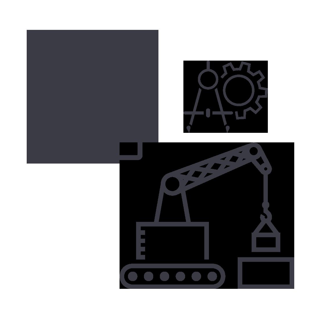 Symbole Haus Bau und Architektur